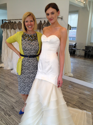 Designer Lela Rose with the Duane Park dress. I love the architectural lines with a fluid feeling.