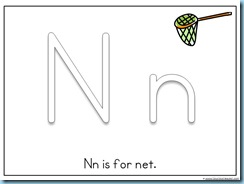 Letter Nn Printable for Toddlers