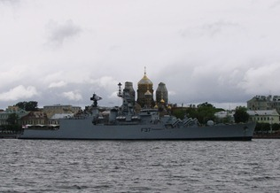 Brahmaputra Class Frigate INS Beas [F31] of the Indian Navy in Russia