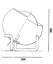 Clan table lamp with metal base schematic