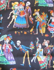 7.31.12 day of the dead fabric