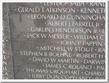 Vietnam Memorial Wall, D.C.