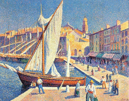 maximilien luce_the port at saint tropez