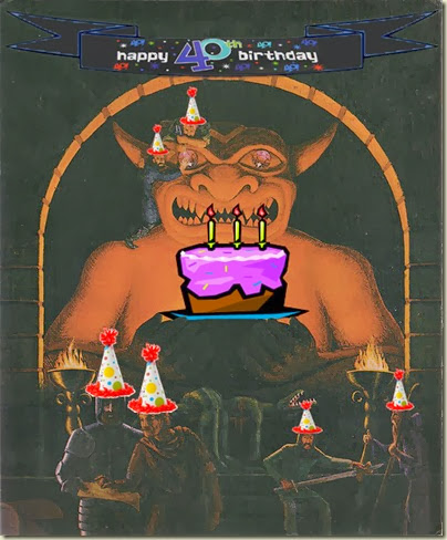 AD&D original cover - 40th birthday