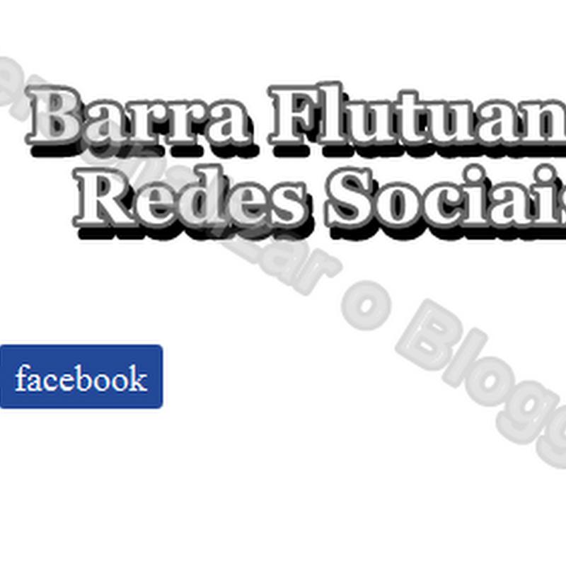 Elegante Barra flutuante para seguir nas redes sociais