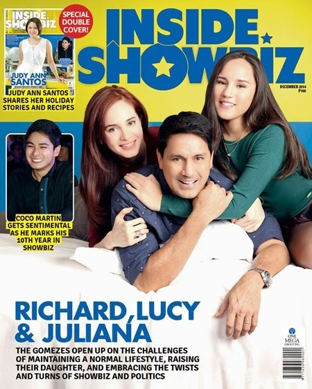 Richard, Lucy and Juliana Gomez - Inside Showbiz Dec 2014