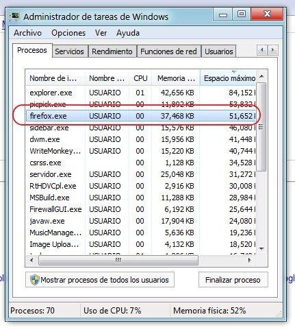 Firefox 2 uso de memoria