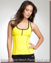 Zipper Mesh Racerback Tank - BEBE SPORT