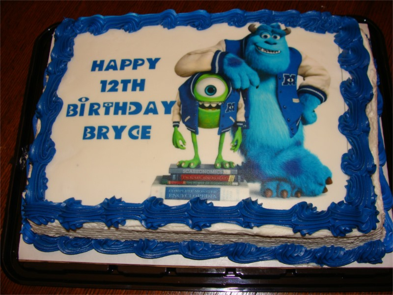 Monsters University Birthday Cake Bubbles Make Him Smile