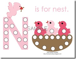baby bird magnet page
