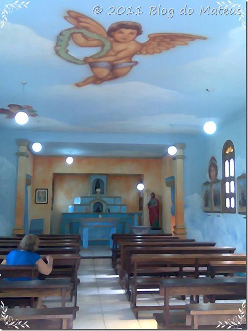 A capela pintura foto imagem em aquarela clássico