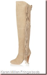 Karen Millen Fringe Knee High boot