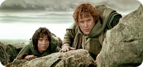 Frodo & Sam the bravest of the Hobbits