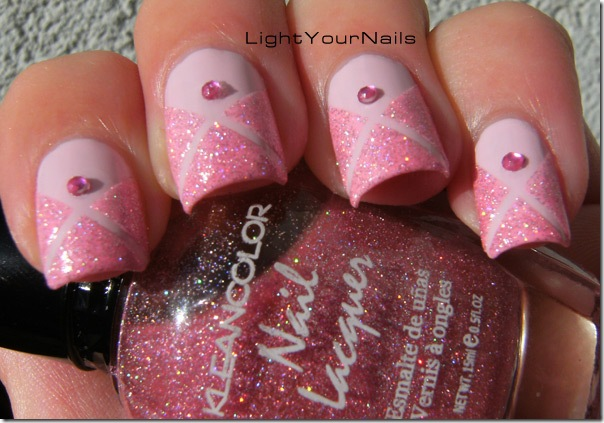 triangles nail art