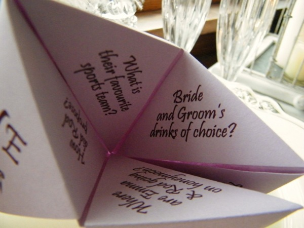 Cootie Catcher Place Card | Kats Kraft Etsy