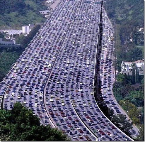 最長塞車的保持者, 260 公里在美國。