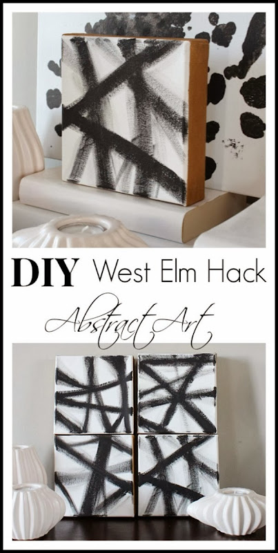 Easy DIY West Elm Inspired Art #abstract #diy #art