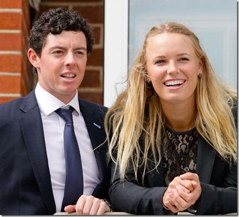 Caroline Wozniacki and Rory Mcllroy