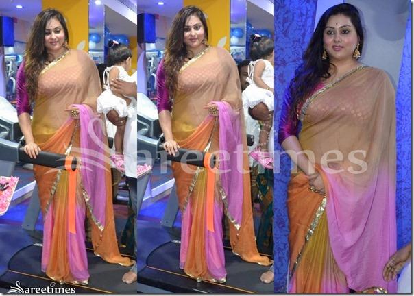 Namitha_Multicolor_Saree