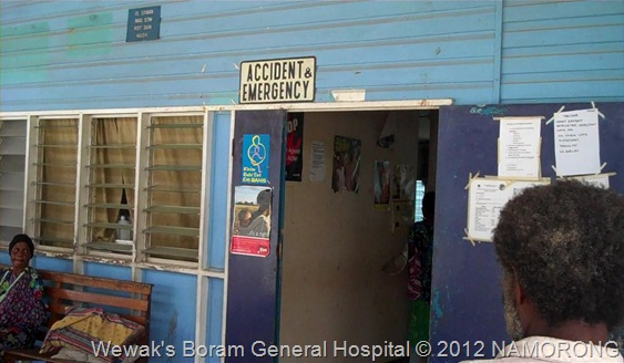 Accident and Emergency at Wewak's Boram General Hospital