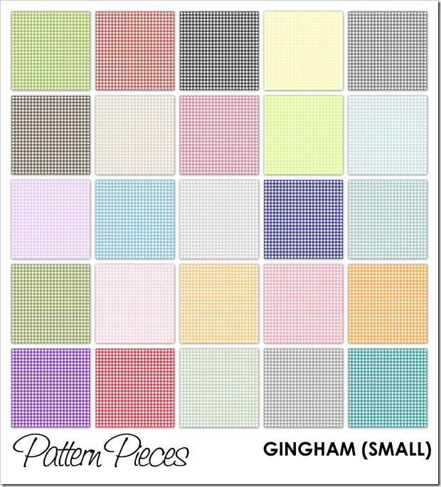 IMAGE - Pattern Pieces - Gingham (Small)