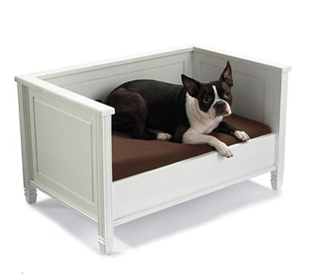 This pet bed has classic lines. (grandinroad.com)