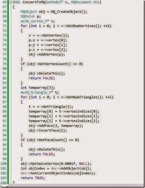 ConvertToMQ function