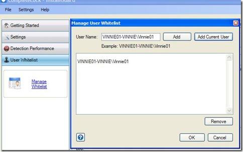 InstallGuard Autorizzare specifici utenti
