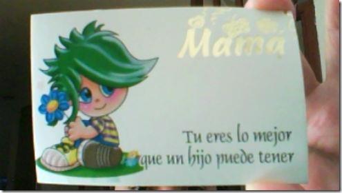 Tarjeta que me regalo Dami-Dia de la Madre - 16-10-2011