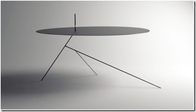 Chiuet Table - table en acier