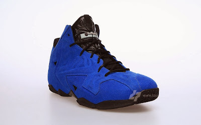 nike lebron 11 nsw sportswear ext blue suede 2 02 Nike LeBron XI (11) EXT Blue Suede Detailed Pictures