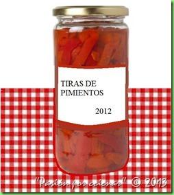 BOTE DE TIRAS DE PIMIENTOS