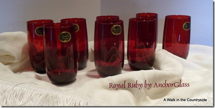 A Walk in the Countryside: Vintage Royal Ruby by Anchor Glass