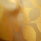"""Ekskluzywna tkanina typu """"tafta"""". Motyw roślinny - liście. Na zasłony, poduszki, narzuty, dekoracje. Szeroka. Złota, brązowa."""