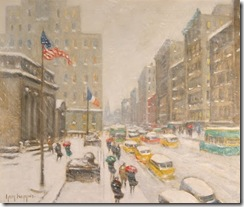 Winter on the Avenue at 42nd Street