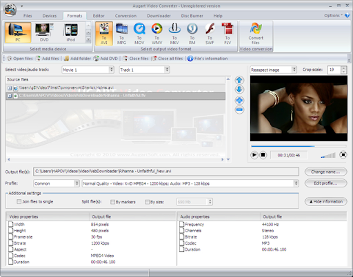 Descargar Augart Video Converter gratis