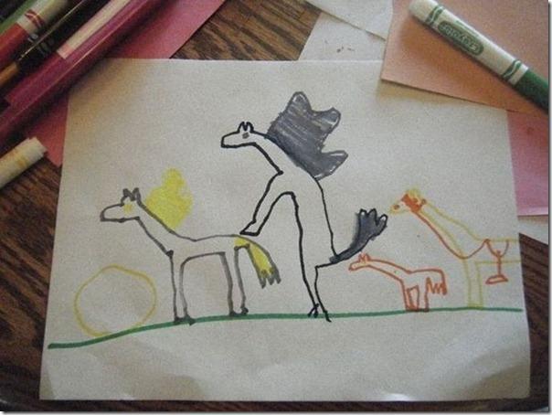 Desenhos bizarros de crianças (1)