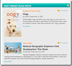 National Geographic Kids Website - Blogs by Kids