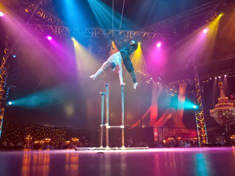 Hand balancing Circus act