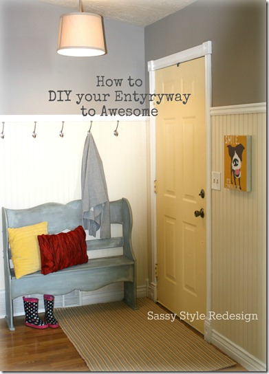 how to diy entryway to awesome