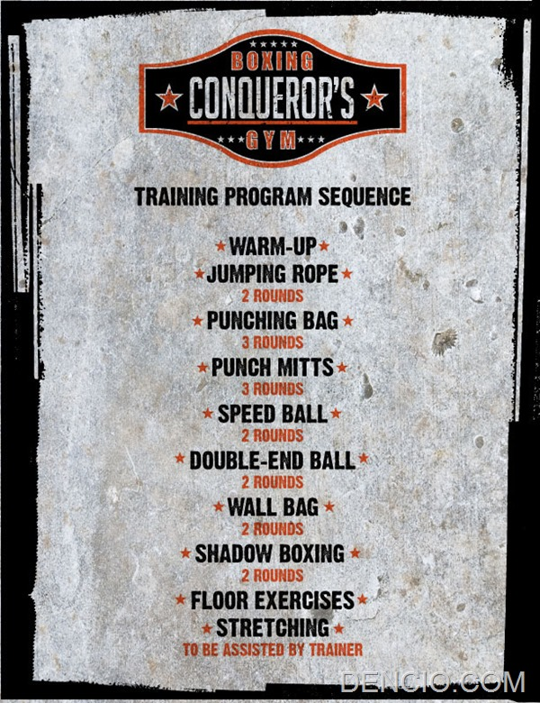 Conquerors Boxing Training Sequence