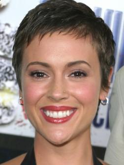 Alyssa Milano Short Haircut Style