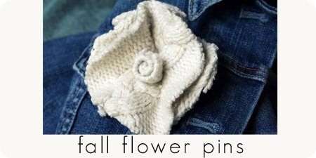 fall flower pins