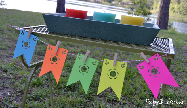 Cinco de Mayo Pennant Banner with silhouette files