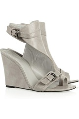 Karl Leather wedge sandals