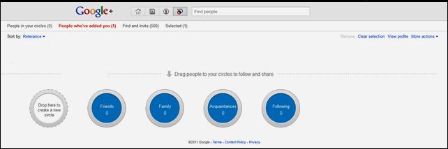 Google default circles 1