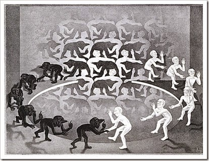 MC Escher, The encounter