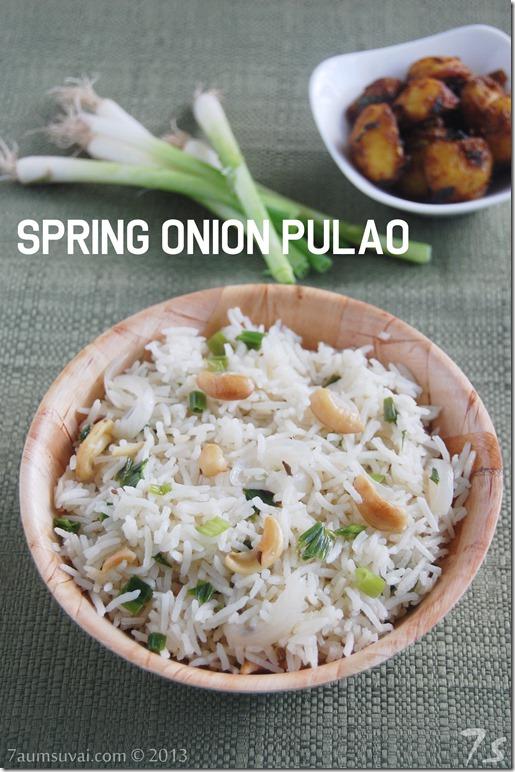 Spring onion pulao