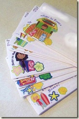Lullaby Luau envelopes