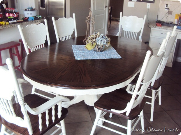 Reclaim ologists and other crafty chicks kitchen table redo - Kitchen table redo ...